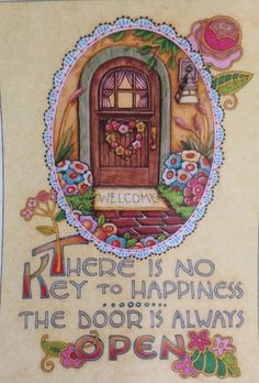 There Is No Key To Happiness-Handmade Fridge Magnet-ME Artwork .