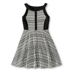 Hologr BG A Line Dress Black/White