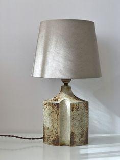Danish handmade porcelain table lamp base