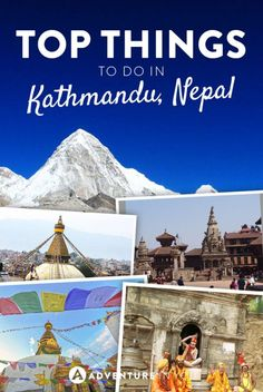 Planning to travel to Kathmandu, Nepal? From visiting the many temples to going on treks, here's the top things to do there. Beautiful Places To Visit, Cool Places To Visit, Places To Travel, Travel Destinations, Travel Guides, Travel Tips, Travel Goals, India Travel, Travel Nepal