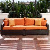 Found it at Wayfair - Tikka Patio Sofa with Cushions