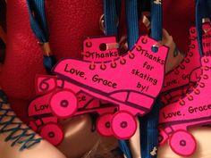 Roller skating party favor tag.