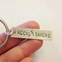 Accio Tardis - Harry Potter & Doctor Who Keychain. $10.00, via Etsy.