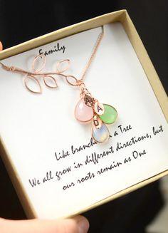 Custom Birthstone Necklace For Mom , Wife,Mothers Gift , Mommy Necklace , Custom Necklace , Family Necklace , Nana Gift Jewelry , Cascade