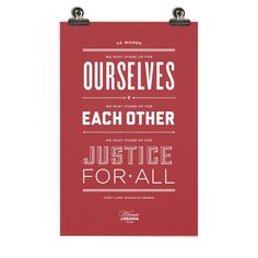 Women for Obama Justice for All Screen Print. $20.00