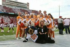 Vol's at Oklahoma 9/13/14 picture 14; cheerleaders & Smokey
