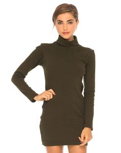 Super on trend roll neck dress, this show stopper features an all over statement print a flattering bodycon fit.