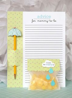 Cute idea for a baby shower. @Mery Don't want to overwhelm you with too many ideas, but I just thought I'd show you this.