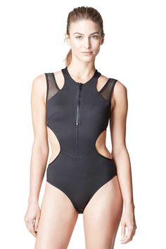 I'd like to introduce you to Michi's Medusa Bathing Suit in the color: Black. This is a high end designer one piece that shows off the perfect amount of skin. #designer