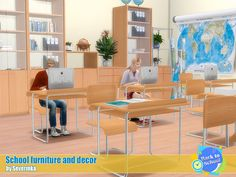 Sims 4 CC's - The Best: School furniture and decor by Severinka