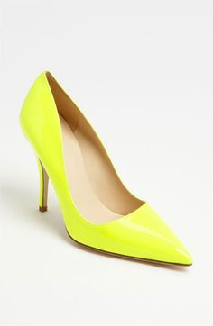 kate spade new york 'licorice too' pump available at Nordstrom    loving the bright yellow, wish the heel was lower.