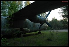 Abandoned airplane in Russia