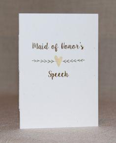 Libro di discorso di discorso libri - libro di discorso di damigella d'onore - testimone nozze