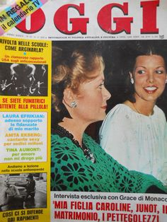 OGGI - Cover - 11-3-1978 - Princess Grace with daughter Caroline