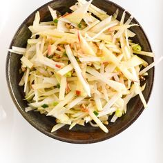 Kohlrabi, Apple, And Walnut Slaw Salad recipe on Food52