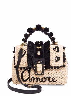 Dolce & Gabbana Borsa A Mano Amore Raffia Crossbody