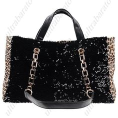 $33.29 - Leopard Patterned PU Leather Bag Handbag Shoulder Bag Chain Bag with Sequins for Women Ladies from UltraBarato Gadgets