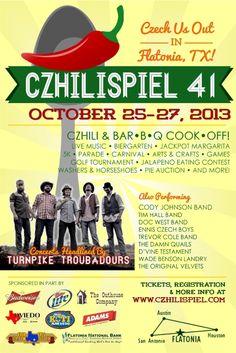 Flatonia Czhilispiel 41!  October 25-27, 2013!