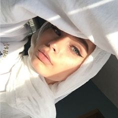 sun shinin' on her face