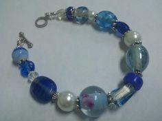 Blue Beauty Bracelet Blue Beaded Bracelet Blue by ShiningCrystals, $8.00