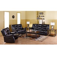 Amalfi 8-Piece Motion Bonded Leather Collection