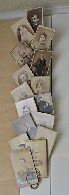 Your family's old photos on display. Better than being boxed up in the basement!