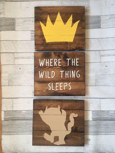 Where The Wild Things Are Nursery Sign Wild Things Sign Ill