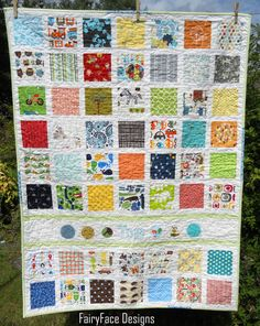 FairyFace Designs: Prince Charming Baby Boy Quilt Finish