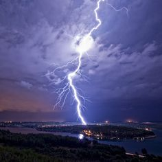 A bolt of lightning strikes the sea near Pula, Croatia. Amateur photographer and full time shipbuilder, Matija Sculac, 35, did not have to travel far to catch his favourite extreme weather - these lightning shows happened on his doorstep. Matija carefully monitors local weather each day for the slightest hint of a lighting storm and when one breaks he travels to his favourite spots to capture the action.