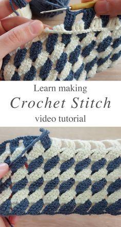 Easy Crochet Stitches, Single Crochet Stitch, Crochet Basics, Free Crochet Blanket Patterns, Different Crochet Stitches, Crochet Stitches For Beginners, Easy Crochet Blanket, Crochet Crafts, Crochet Yarn