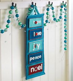 Reflect on the meaning of the season with a spirited felt Advent calendar.
