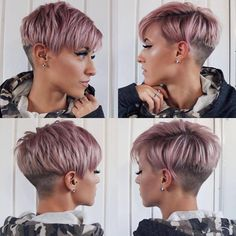 Frisuren Haare - It's All Hair To Me ~ ~. Short ᕼᗩIᖇ- All Ages & All Stages! Short Pixie Haircuts, Pixie Hairstyles, Pretty Hairstyles, Black Hairstyles, Haircut Short, Stylish Hairstyles, Short Grey Hair, Short Hair Cuts For Women, Ombré Hair