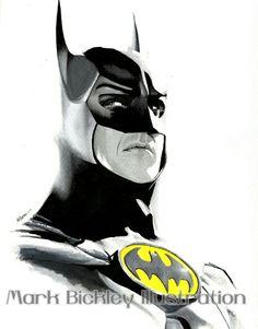 My drawing of Michael Keaton as Batman. Batman Comic Art, I Am Batman, Batman Comics, Batman Robin, Batman Stuff, Dc Comics, Batman Gotham Knight, Batman The Dark Knight, Batman Concept Art