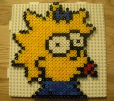 Baby Simpson in Hama! Hooray, we have finally started to complete the set of Simpson Family members in Hama Beads. Here is Maggie the lovable yet unpredictable baby of Homer Simpson. Doesn't she...