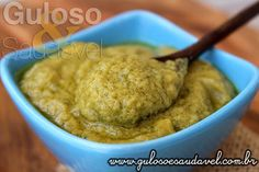 Não sabe como temperar a saladinha ou petisco? Este Creme de Avocado é leve, saboroso, nutritivo, é perfeito.  #Receita aqui: http://www.gulosoesaudavel.com.br/2015/10/01/creme-avocado/