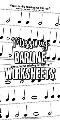 Missing barline worksheets