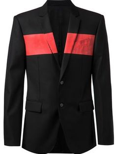GIVENCHY striped chest blazer