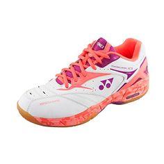 Yonex Women's Power Cushion SHB-SC5 LX Badminton Shoe-Coral Orange-8.5