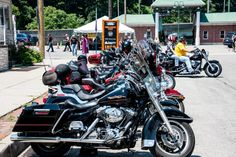 Bikes lining the street and other preview pictures for the Johnstown, PA Thunder in the Valley (2015 Dates are June 25th to 28th)  **MORE Pictures at blog.lightningcustoms.com/category/motorcycle-rallies-events/thunder-in-the-valley/ **Info & VIDEO at http://www.lightningcustoms.com/thunder-inthe-valley.html  #johnstownthunder