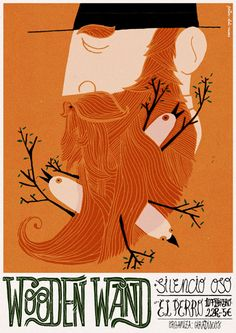 POSTERS 2011/2008 - Abel Cuevas - graphic design & illustration  (I like the different muted shades of orange, which usually gets so blinding. )