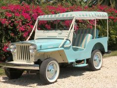 1963 Jeep DJ-3A Surrey Gala -this would be fun to have!