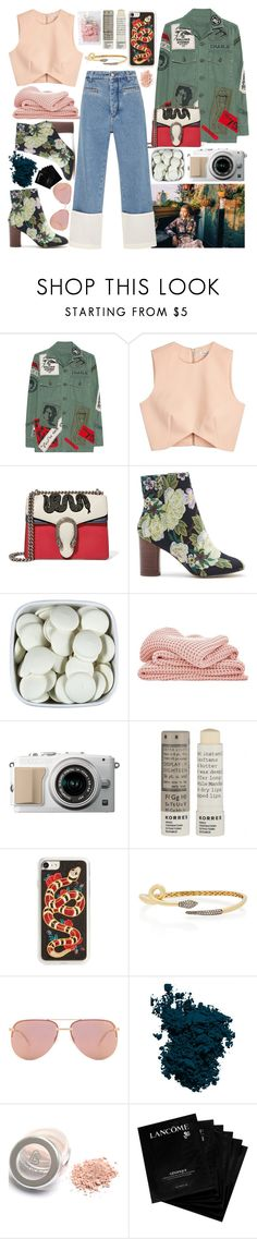 """Look What I Made Me Do! :)"" by princess-malik-styles ❤ liked on Polyvore featuring MadeWorn, Finders Keepers, Gucci, Sole Society, Sheridan, Korres, Zero Gravity, Quay, Laura Mercier and Lancôme"