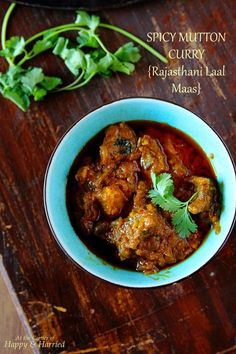 fiery red mutton curry from the deserts of Rajasthan, Laal Maas is easy to prepare and an absolute treat to spice lovers.This fiery red mutton curry from the deserts of Rajasthan, Laal Maas is easy to prepare and an absolute treat to spice lovers. Lamb Recipes, Veg Recipes, Curry Recipes, Indian Food Recipes, Asian Recipes, Chicken Recipes, Cooking Recipes, Healthy Recipes, Ethnic Recipes