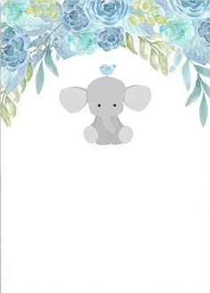 Elephant Baby Showers, Baby Elephant, Baby Boy Shower, Pretty Baby, Baby Love, Baby Blue Wallpaper, Baby Messages, Baby Shower Invitaciones, Baby Clip Art