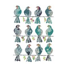Brewster Home Fashions Brewster Home Fashions Komar Freestyle Doves Wall Decal Wall Appliques, Removable Wall Decals, Tattoo Removal, Bird Illustration, Bird Art, Flower Wall, Bird Feathers, Art Journals, Beautiful Birds