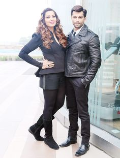 Bipasha Basu and Karan Singh Grover promote their film 'Alone'. #Bollywood #Fashion #Style #Beauty