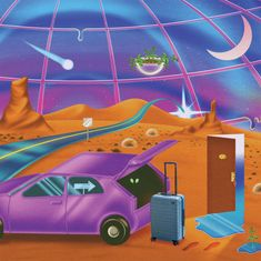 """Robert Beatty's campaign for Away depicts the """"sci-fi-like experience of travel amid a pandemic"""""""