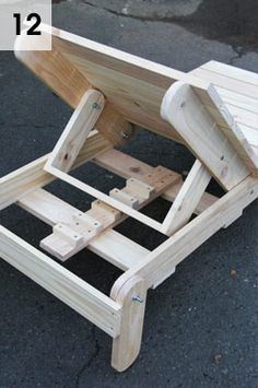 Make a Sun Lounger Cadeira de pallete Encosto móvel de cadeira de madeira