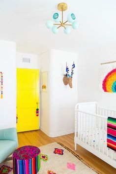 a colorful nursery we're jealous of!