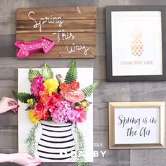 How to DIY Floral Art darbysmart diy diyprojects flowers floraldesign floralarrangement walldecor homedecor wallart 530158187379433616 Diy Home Crafts, Fun Crafts, Crafts For Kids, Diy Wall Art, Diy Wall Decor, Diy Flowers, Paper Flowers, Faux Flowers, Diy 3d